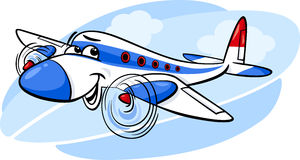 Air plane cartoon illustration Stock Photos