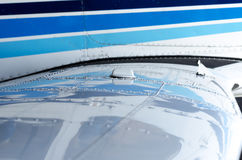 Air plane wing details Stock Images
