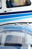 Air plane wing details Royalty Free Stock Photography