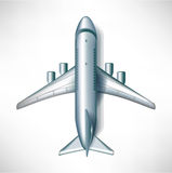 Air plane downward view Stock Images