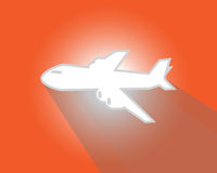 Air plane flying Royalty Free Stock Photos
