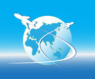 Air plane flying Royalty Free Stock Photo
