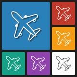 Air plane icon Royalty Free Stock Photo