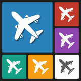 Air plane icon Stock Photography