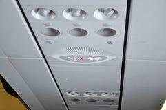 Air plane interior signs on overheaad panel