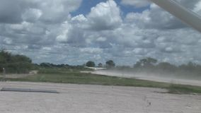 Air plane in Kenya Botswana savannah Africa stock footage