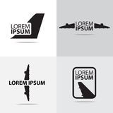 Air plane logo design Royalty Free Stock Photo