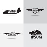Air plane logo Stock Images