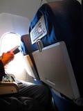 Air Plane Reading 2 Royalty Free Stock Photo
