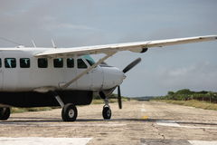 Air plane on runway Royalty Free Stock Image