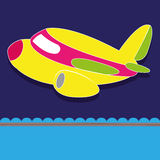 Air plane. On special blue background Royalty Free Stock Image