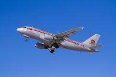 Air plane take off Royalty Free Stock Photo