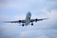 Air plane. The air plane is taking off royalty free stock images