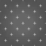 Air plane travel black background illustration Stock Photos