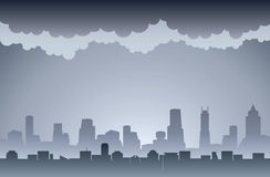 Air Pollution. Dirty smoky and foggy city image Royalty Free Stock Image