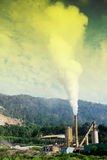 Air pollution. An industries and factory Royalty Free Stock Image