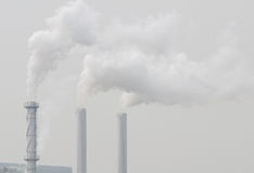 Air pollution. From the factory in Thailand Stock Image