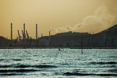 Air pollution. From a electricity plant Stock Photography