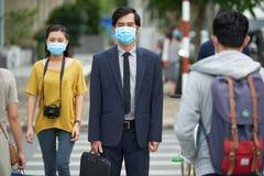 Air pollution in Asian city Stock Photos