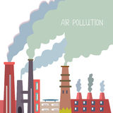 Air pollution background with pipes and smoke Stock Images
