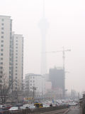 Air pollution in Beijing Royalty Free Stock Image