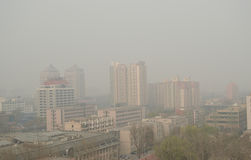 Air Pollution in Beijing Stock Image