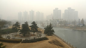 Air pollution in Beijing Royalty Free Stock Photos