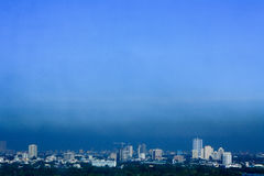 Air Pollution. A black haze soars above the city of Manila. This clearly indicates how poor the air quality in the Capital Stock Photos