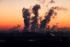 Air, Pollution, Chimney Stock Image