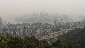 Air pollution in Chongqing Royalty Free Stock Images