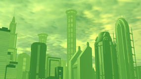 Air Pollution in City stock illustration