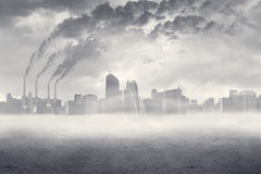 Air pollution in the city Royalty Free Stock Images