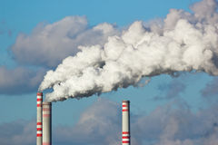 Air pollution. Coal burning emissions Stock Photography