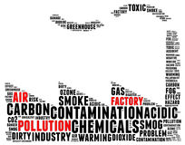 Air pollution effect info text Royalty Free Stock Photography