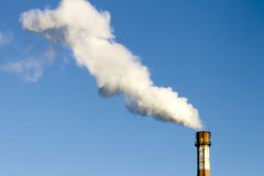 Air pollution and environment of the smoke pipe. The picture on the theme of environmental protection Royalty Free Stock Photo