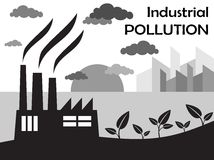 Air pollution of factory Stock Images