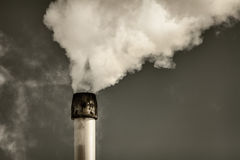 Air pollution from a factory pipe Stock Image