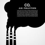 Air pollution. Factory or power plant emitting smoke. Smoking factory concept in Flat style. Vector illustration.  Stock Photo