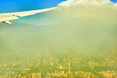 Air pollution of Guangzhou China Stock Photo