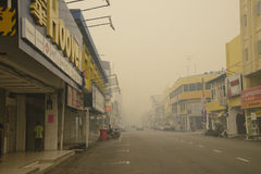 Air Pollution Haze hazard at Malaysia Stock Image