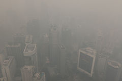 Air pollution (haze) in Kuala Lumur, Malaysia Stock Photo