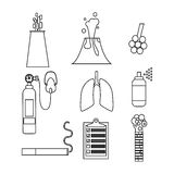 Air pollution icon set Royalty Free Stock Photo