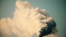 Air Pollution From Industrial Plants stock footage