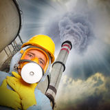 Air pollution. Stock Photos