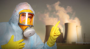 Air pollution. Royalty Free Stock Images