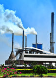 Air Pollution by Mill. Air pollution produced by the palm oil mill Stock Photography