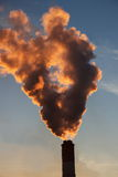 Air pollution by not renewable power engineering.  Royalty Free Stock Images