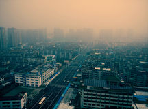 Air pollution of a regular city in china Royalty Free Stock Photography