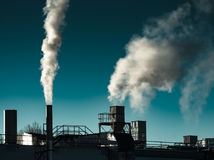 Air Pollution from the smokestack of a factory Stock Photography
