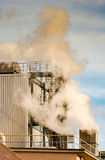 Air Pollution from the smokestack of a factory Stock Photo